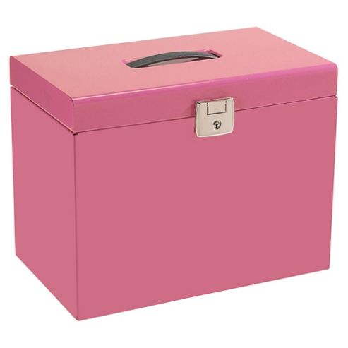Pierre Henry A4 Metal Box File, Pink