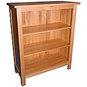 Kelburn Furniture Essentials Small Bookcase in Light Oak Stain and Satin Lacquer