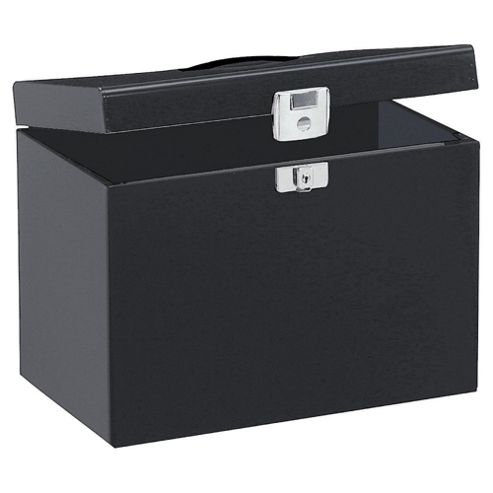 Pierre Henry A4 Metal Box File, Black