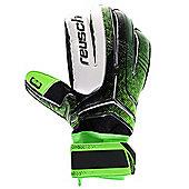 Reusch Re:Ceptor SG Extra Mens Goalkeeper Goalie Glove Black/Green - Green
