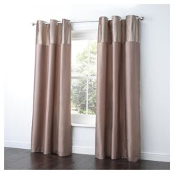 Tesco Velvet Taffeta Curtains Lined Eyelet W137xL183cm (54x72