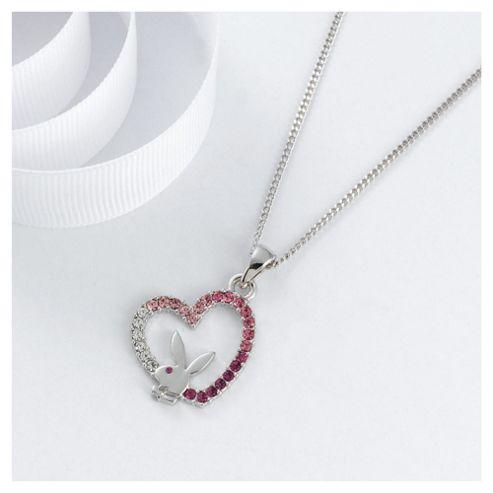 Playboy Pink Crystal Heart Pendant