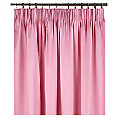Tesco Kids Curtains Pair 1-Pass Back Coted Plain Dyed