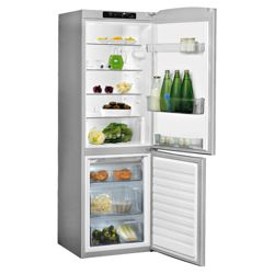Whirlpool WBE3321NFS Fridge Freezer, Energy Rating A, Width 59.5cm. Silver