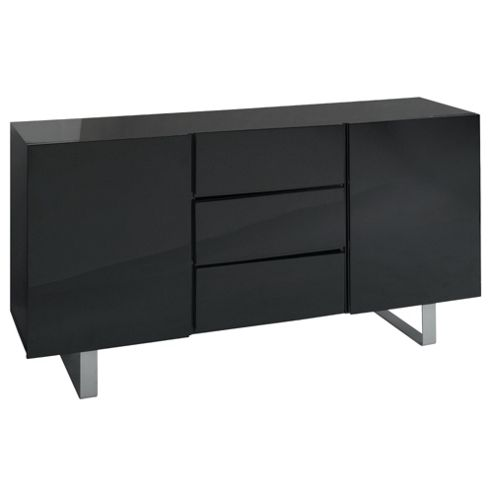 Costilla Sideboard, Black Gloss