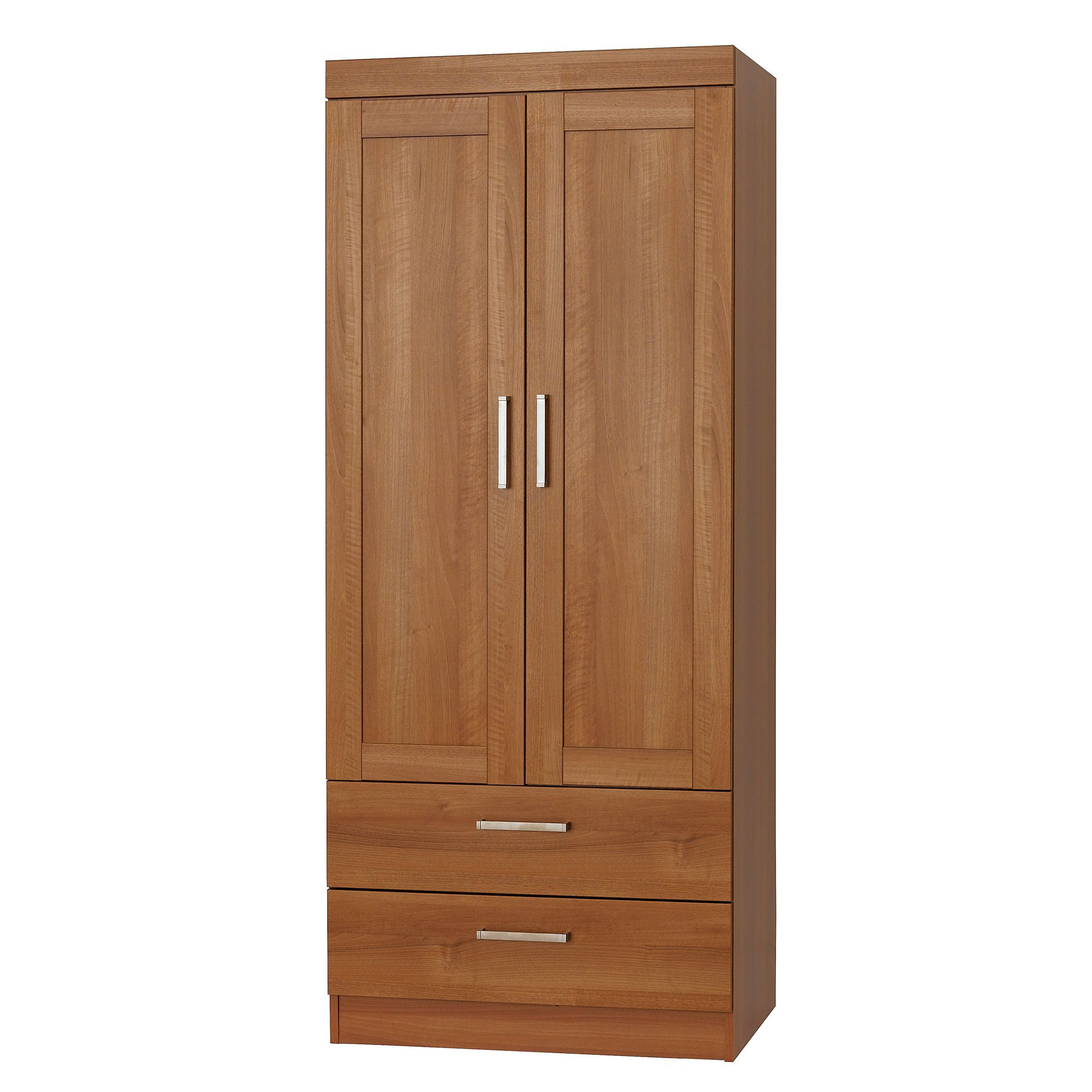 Alto Furniture Visualise Alive Combi Two Drawer Wardrobe in Natural Aida Walnut at Tescos Direct