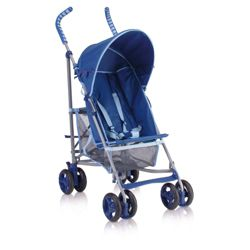 Tesco Harrison Buggy With Rain Cover, Blue