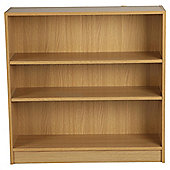 Fraser 3 Shelf Wide Bookcase, Oak-Effect