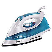 Russel Hobbs 15081 anti drip Iron with Ceramic Plate - White/Blue