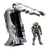 Halo 4 Frozen Master Chief With UNSC Cryotube Deluxe Figure
