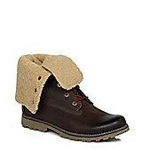 Timberland Dark Brown Junior Authentic Shearling Girls Boys Boots - Brown