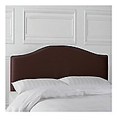 Seetall Laredo Headboard Chocolate Faux Leather King