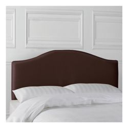 Laredo King Faux Leather Headboard, Chocolate