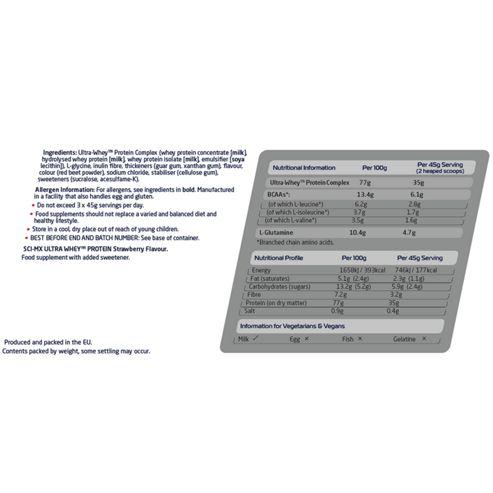 Sci-Mx 100% Ultragen Whey Protein 2.28kg Strawberry