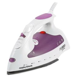 Morphy Richards 40514 Steam Generator with Aluminium Plate - White/Pink