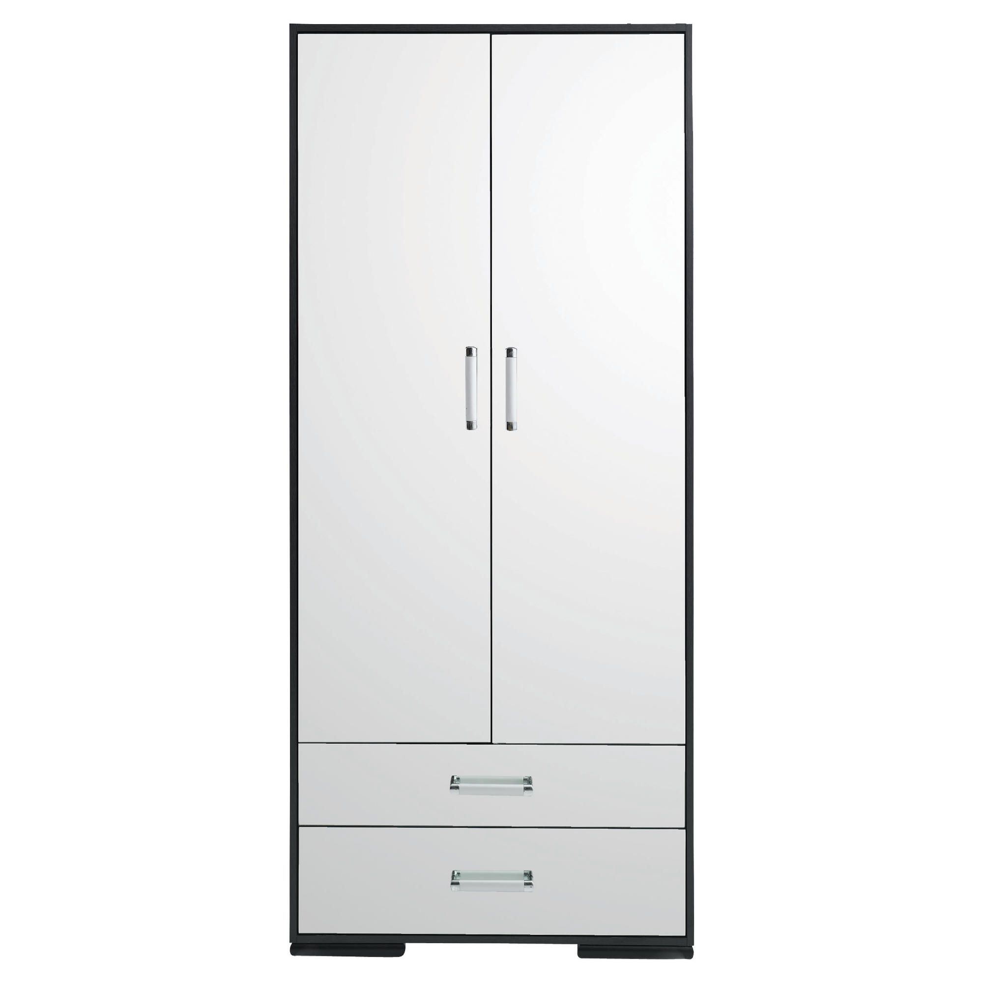 Sophia 2 Door 2 Drawer Robe Mirrored at Tesco Direct