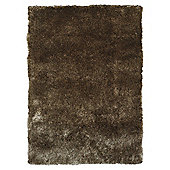 Tesco Rugs Luxurious Shaggy Rug, Platinum 150X240Cm