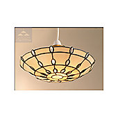 Loxton Lighting Jewel Uplighter in Clear / Beige