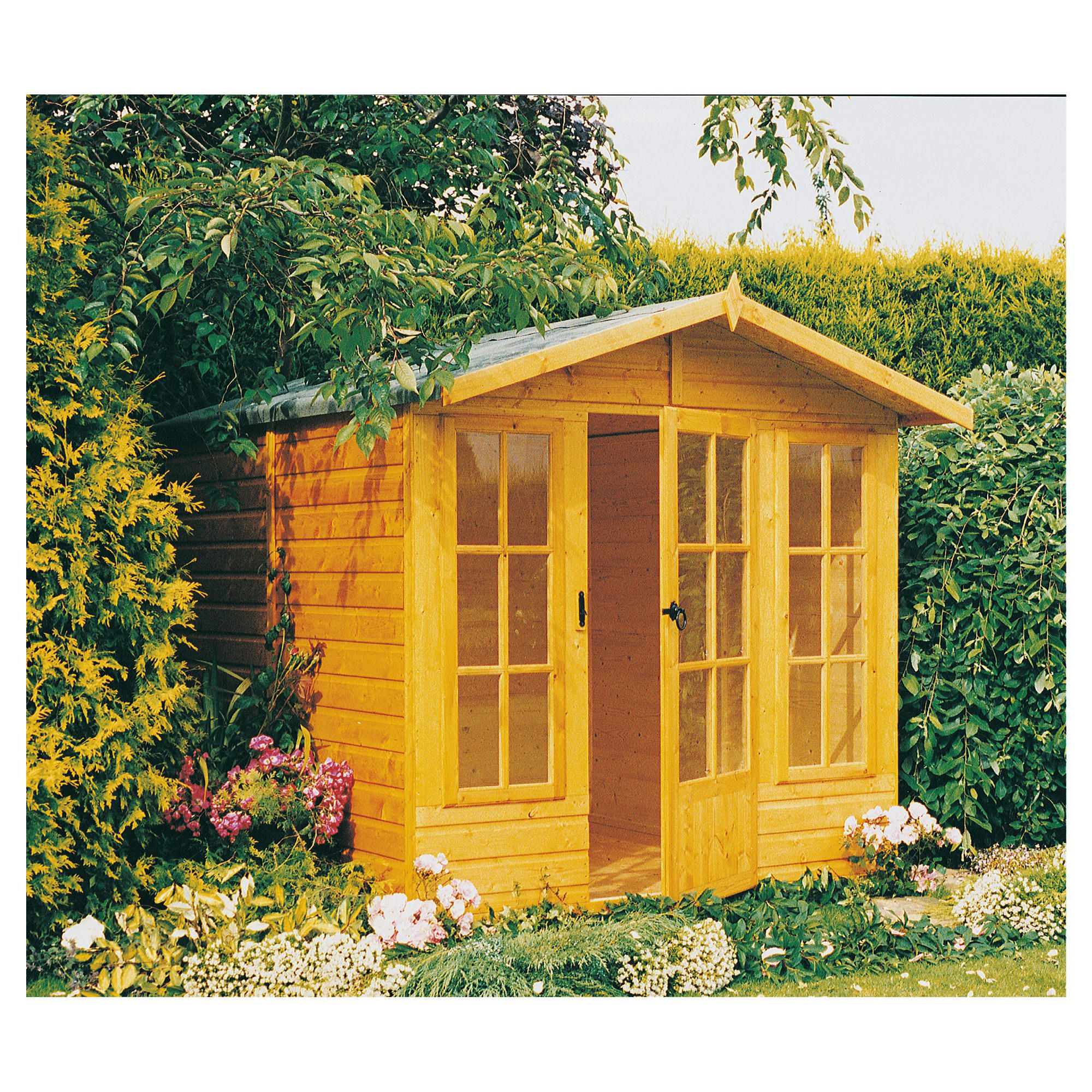 10x7 Chatsworth Finewood Wooden Summerhouse with Installation at Tesco Direct