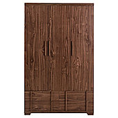 Brandon Triple Wardrobe, Walnut-Effect