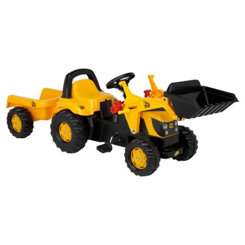 JCB Tractor Pedal Ride-On With Trailer & Scoop