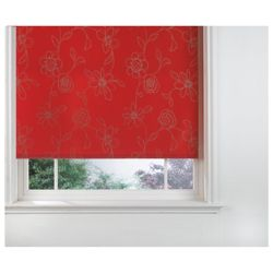 Designed Roller Blind, Clematis Red 90Cm