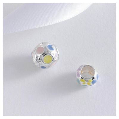 Sterling Silver Multi Colour Ball Charm 2 Pack