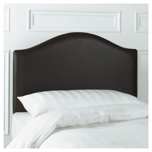 Seetall Laredo Single Faux Leather Headboard, Chocolate