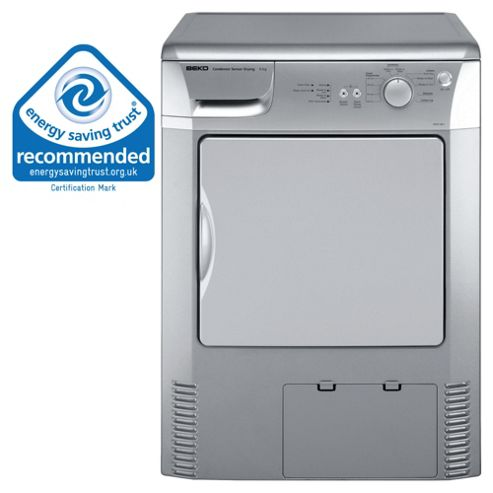 Beko DRCS68 Condenser Tumble Dryer, 6 kg Load, C Energy Rating. Silver