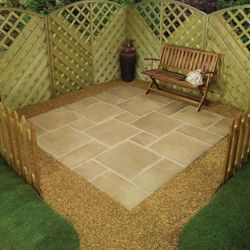 Lincoln Weathered Bronze Square Random Kit 2.4mx2.4m + Patio Base Kit
