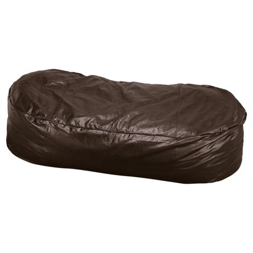 Bean Faux Leather Lounger, Chocolate