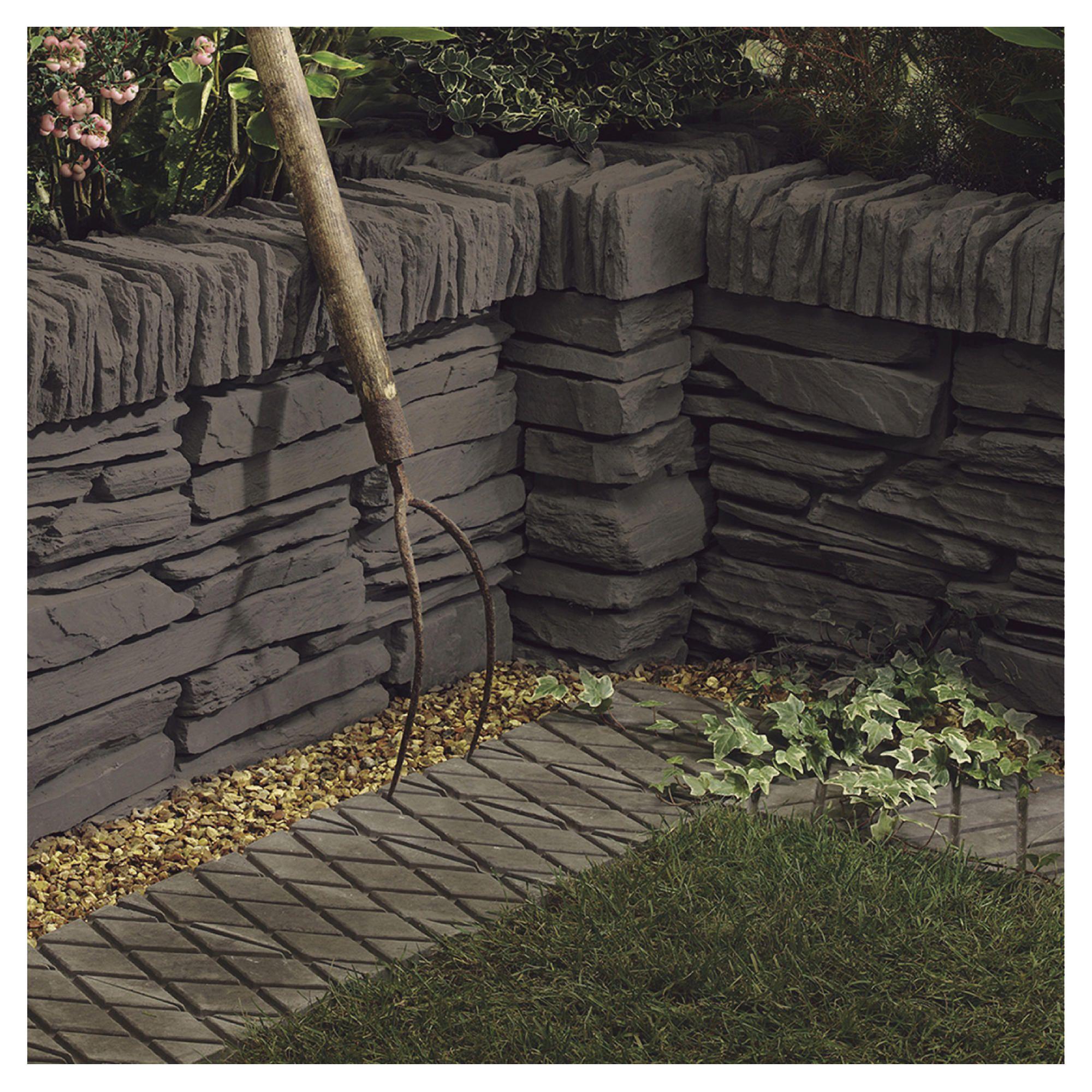 Cumbrian Walling Cornish Slate Edging 440x100x140mm 60pc at Tesco Direct