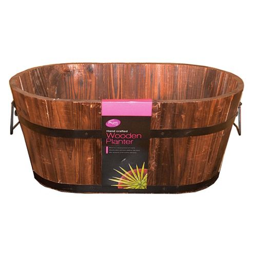 Plum Products LTD 50cm Oval Wooden Planter