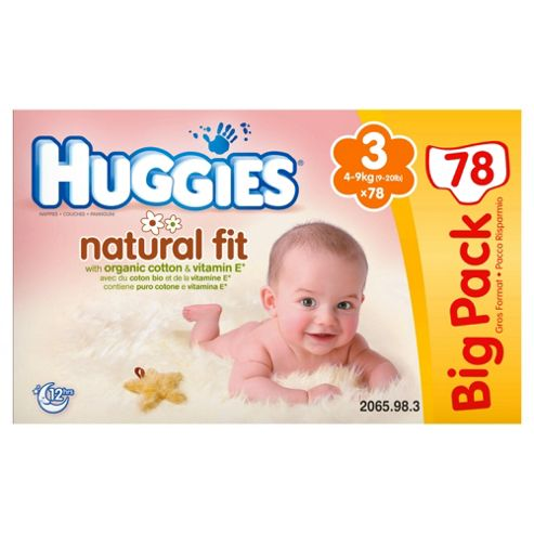 Huggies Natural Fit Big Pack Size 3 (x78)