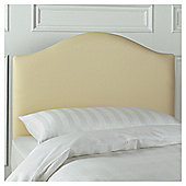 Seetall Laredo Headboard Cream Faux Leather Single