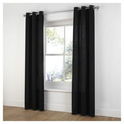 Tesco Plain Canvas Unlined Eyelet Curtains W229xL137cm (90x54