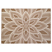 Tesco Rugs Large All Over Flower Design Wool Rug, Natural 150X240Cm