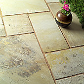 Natural Fossilstone Patio Kit 5.76m2