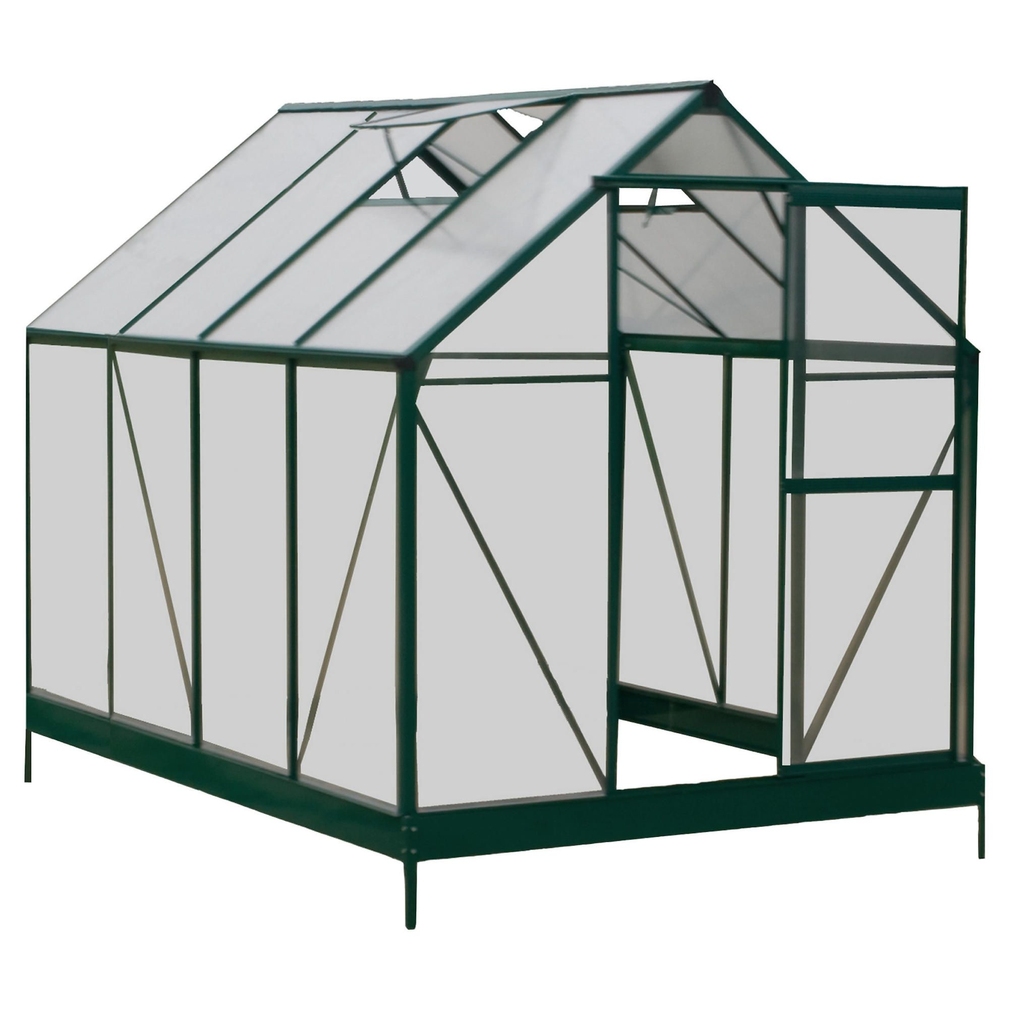 Mercia 6x8 Polycarbonate Greenhouse at Tesco Direct