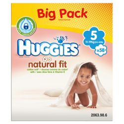 Huggies Natural Fit Size 5 Big Pack (x58)