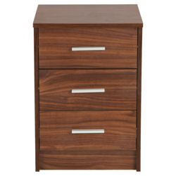 Compton Bedside Chest, Walnut-Effect