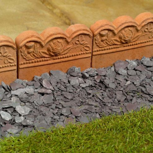Tudor Rose Edging Terracotta