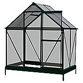 4 x 6 Aluminium & Polycarb Greenhouse