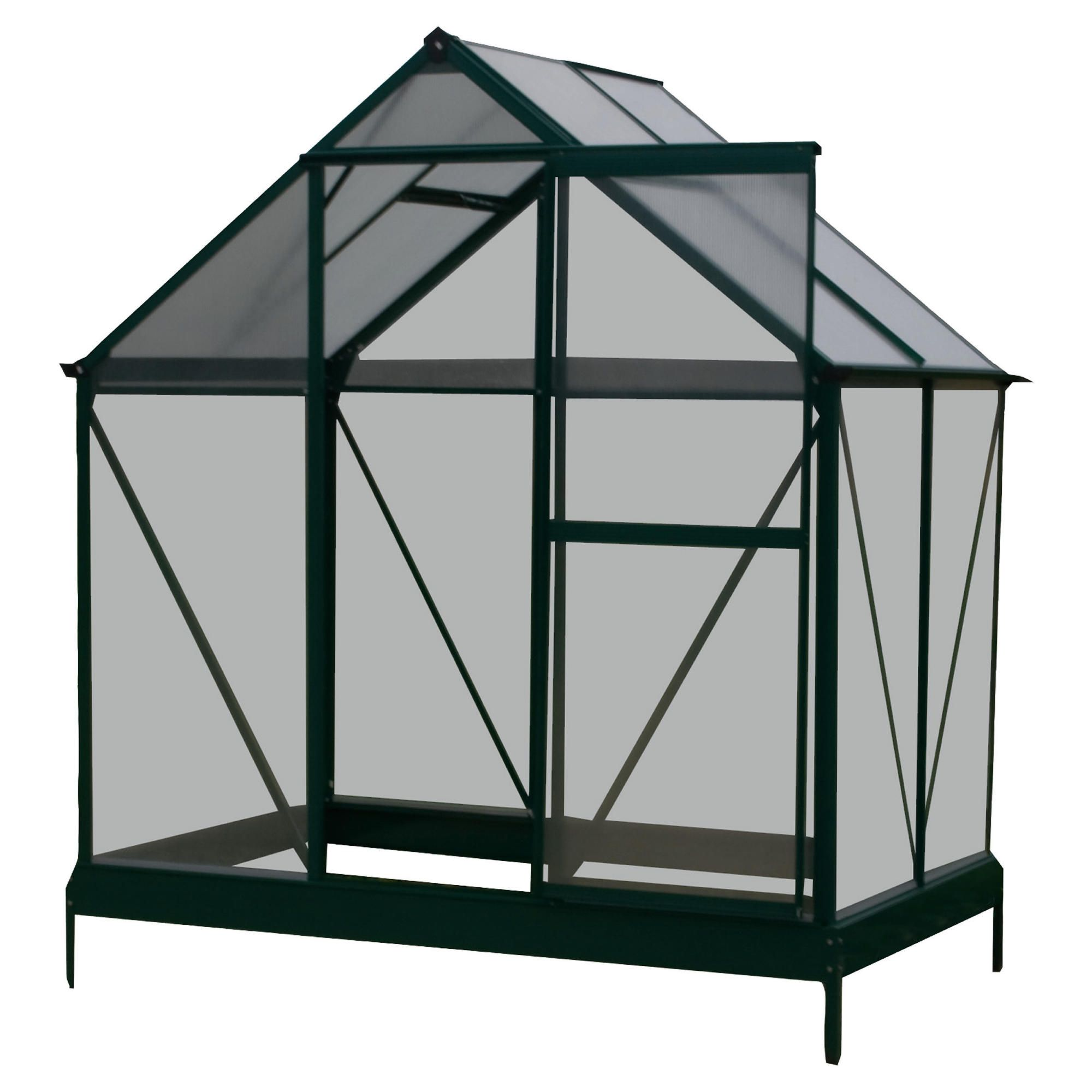 4 x 6 Aluminium & Polycarb Greenhouse at Tesco Direct