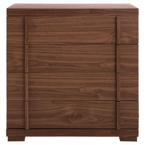 Brandon 4 Drawer Chest, Walnut Effect