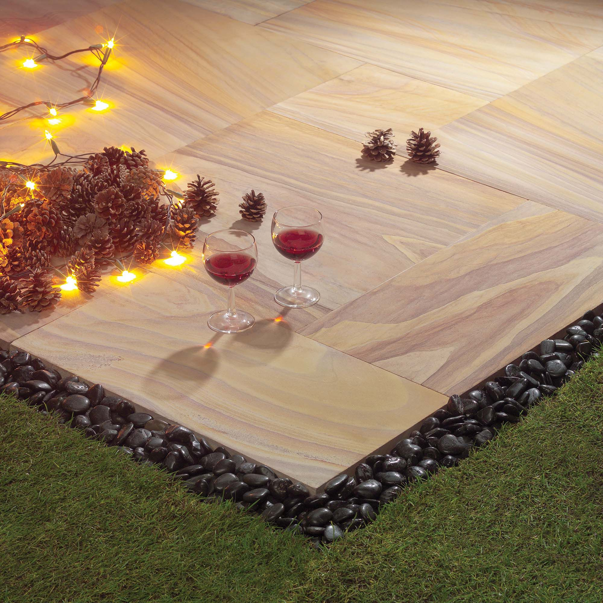 Natural Stone Indian Sunset Kit 5.76m2 at Tesco Direct