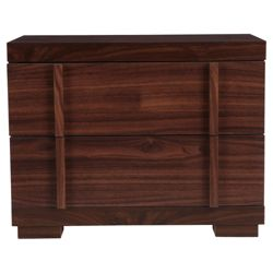 Brandon Bedside Chest, Walnut-Effect