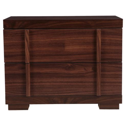 Brandon Bedside Table, Walnut Effect