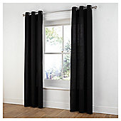 Tesco Plain Canvas Unlined Eyelet Curtains - Black