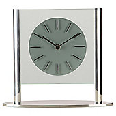 Acctim Eridu Silver Mantel Clock